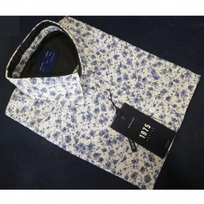 Zara Man ছেলেদের সাদা স্টাইলিশ ফুল হাতা মিক্সড ক্যাজুয়াল কটন শার্ট