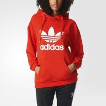 মেয়েদের লাল ফ্যাশনেবল Adidas ডিজাইন ফুল হাতা ফিলিস হুডি LH 11