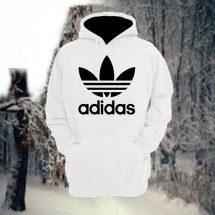 ছেলেদের সাদা Adidas ডিজাইন স্টাইলিশ ফুল হাতা কটন হুডি