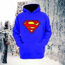 ছেলেদের নীল Superman ডিজাইন স্টাইলিশ ফুল হাতা কটন হুডি