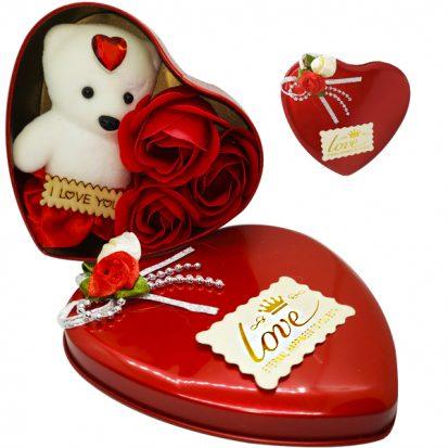 I Love You লাল টেডি বিয়ার গোলাপ ফুল Valentine's Day Gifts 2019