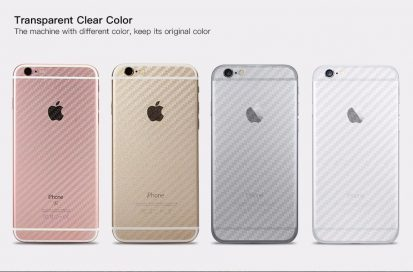 iPhone 7+/8+ 3D ক্লিয়ার কার্বন ফাইবার ব্যাক সাইড প্রটেকটর স্টিকার