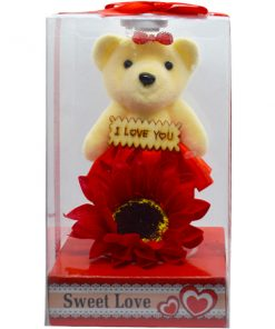 I Love You লাল টেডি বিয়ার সানফ্লাওয়ার ফুল Valentine's Day Gifts For Him & Her