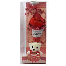 Love লাল টেডি বিয়ার গোলাপ ফুল New Valentine's Day Gifts