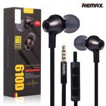 Remax অরজিনাল RM 610D Stereo মিউজিক In কালো ইয়ারফোন