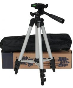 3110 Aluminum Alloy Tripod For Camera and Mobile Silver and Black