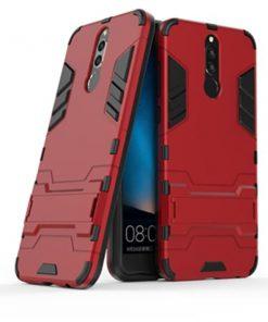 Huawei Nova 2i লাল আর্মর ব্যাক মোবাইল কভার কেস