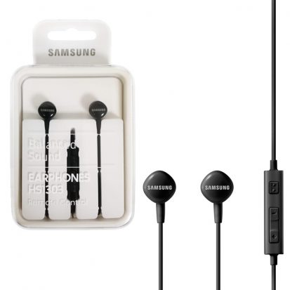 Samsung কালো হাই ডেফিনেশন ইয়ারফোন With Mic HS1303