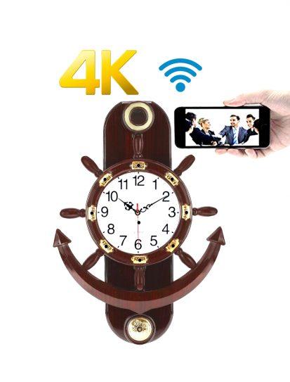 ওয়াইফাই আইপি ক্যামেরা স্পাই ক্যামেরা New Wall Clock 4K Resolution Invisible CCTV Camera