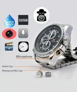 স্পাই ক্যামেরা ঘড়ি 32GB Built in মেমোরি ওয়াটারপ্রুফ