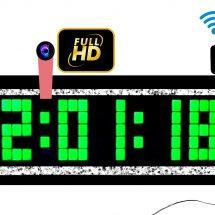 ডিজিটাল দেয়াল ঘড়ি 4K স্পাই ক্যামেরা 32GB ওয়াইফাই আইপি ক্যামেরা অটো চার্জিং