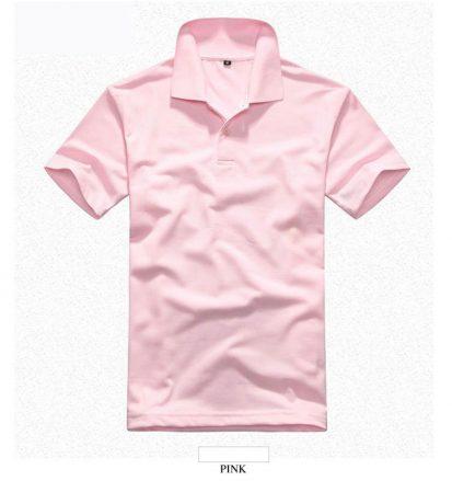 Pink সলিড কালার হাফ হাতা পোলো শার্ট ফর জেন্টস