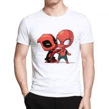 ছেলেদের সাদা Spiderman প্রিন্টেড হাফ হাতা কটন টি-শার্ট
