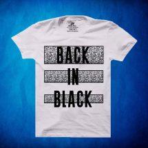 জেন্টস সাদা কালার Back In Black সুতি হাফ হাতা টি-শার্ট