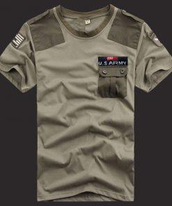Green Color US Army হাফ হাতা গোল গলা কটন টি শার্ট