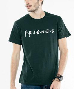 জেন্টস সবুজ FRIENDS প্রিন্টেড গোল গলা কটন টি শার্ট 00134