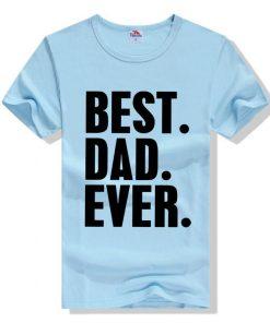 জেন্টস Best Dad Ever প্রিন্টেড গোল গলা কটন টি শার্ট 00157