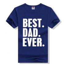জেন্টস নীল Best Dad Ever প্রিন্টেড গোল গলা কটন টি শার্ট 00157