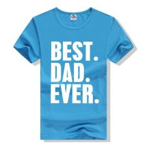 জেন্টস পেস্ট Best Dad Ever প্রিন্টেড গোল গলা কটন টি শার্ট 00159
