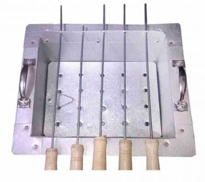 ৪টি স্টিক BBQ গ্রিলমেকার নেট কাবাব চুলা