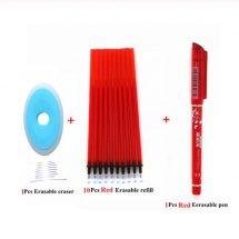 Erasable Novelty Ballpoint Pen+10Pcs Refill+Eraser