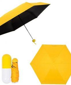 মিনি ফোল্ডিং Umbrella with কিউট ক্যাপসুল Case