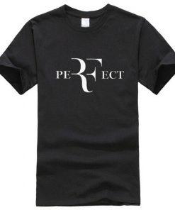 কালো PERFECT প্রিন্টেড হাফ হাতা কটন টি শার্ট ফর জেন্টস 00185