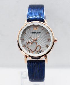 FHULLIN গাড় নীল ক্যাজুয়াল Ladies রিস্ট ওয়াচ