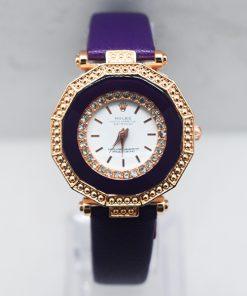 Rolex বেগুনী মিক্স ডায়াল হাতঘড়ি ফর Womens