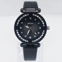 Rolex কালো লেদার রিস্ট ওয়াচ ফর ওমেন্স