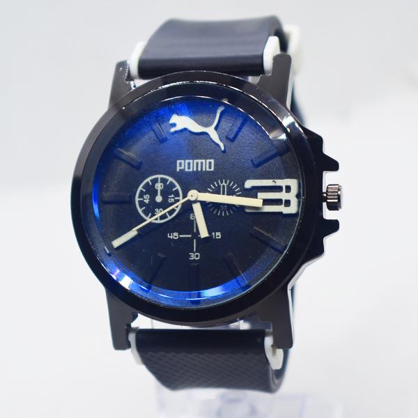 নেভি ব্লু ডায়াল Pomo ক্লাসিক Wrist Watch