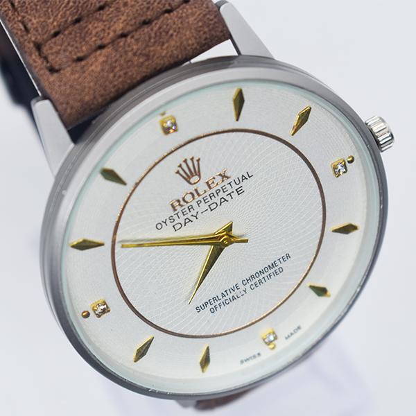 Rolex White Dial ক্যাজুয়াল জেন্টস Watch