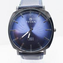 Titan Edg নেভি বুলু লেদার বেল্ট Ritch watch
