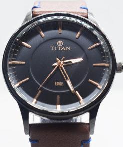 Titan Edge কালো ডায়াল জেন্টস ওয়াচ