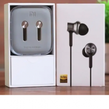 MI কালো Piston in ear HD স্টিল বডি হেডফোন