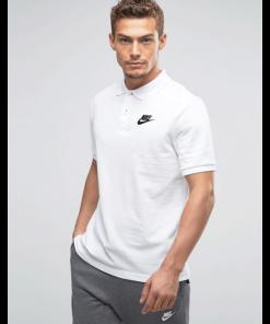 ছেলেদের সাদা Nike লোগো হাফ হাতা কটন পোলো শার্ট