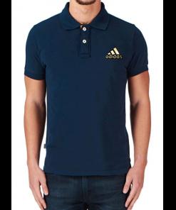 Adidas লোগো নেভি ব্লু হাফ হাতা এক্সপোর্ট কোয়ালিটি পোলো শার্ট