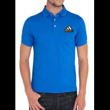 এক্সপোর্ট কোয়ালিটি নীল Adidas লোগো হাফ হাতা কটন পোলো শার্ট