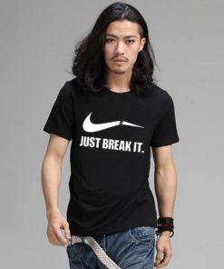 Just Break It কটন গোল গলা টি শার্ট