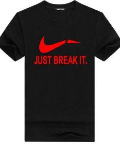 Just Break It স্টাইলিশ কালো কটন গল গলা টি শার্ট