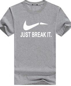 Just Break It ফ্যাশনেবল হাফ হাতা কটন টি শার্ট