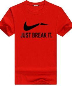 Just Break It হাফ হাতা স্ট্রিচ কটন টি শার্ট