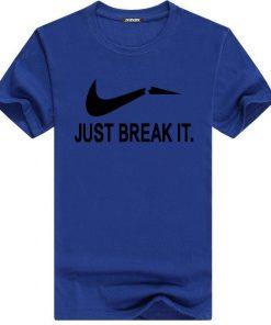 Just Break It স্ট্রিচ ফ্যাশেবল হাফ হাতা কটন টি শার্ট