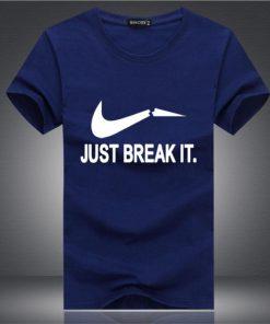 Just Break It স্টাইলিশ স্ট্রিচ কটন গোল গলা টি শার্ট