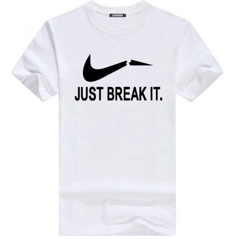 Just Break It স্টাইলিশ স্ট্রিচ গল গলা কটন টি শার্ট