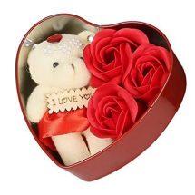 ভ্যালেন্টাইন লাল লাভ বক্স টেডি বিয়ার ফুল - Valentines Gift
