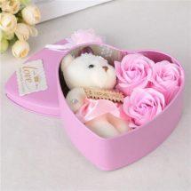 ভ্যালেন্টাইন লাভ বক্স টেডি বিয়ার ফুল - Valentines Gift