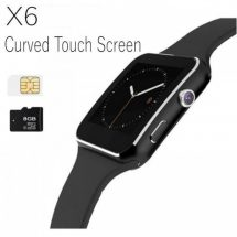 X6 কালো স্মার্ট মোবাইল সহ LCD ব্লুটুথ ঘড়ি