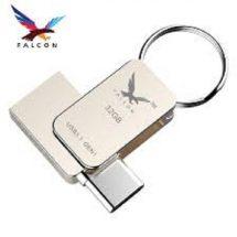 সিলভার কালার অরজিনাল FALCON OTG & USB ৩২ জিবি পেনড্রাইভ