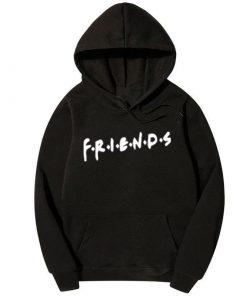 ক্যাজুয়াল কালো Friends ডিজাইন স্টাইলিশ কটন হুডি ফর জেন্টস